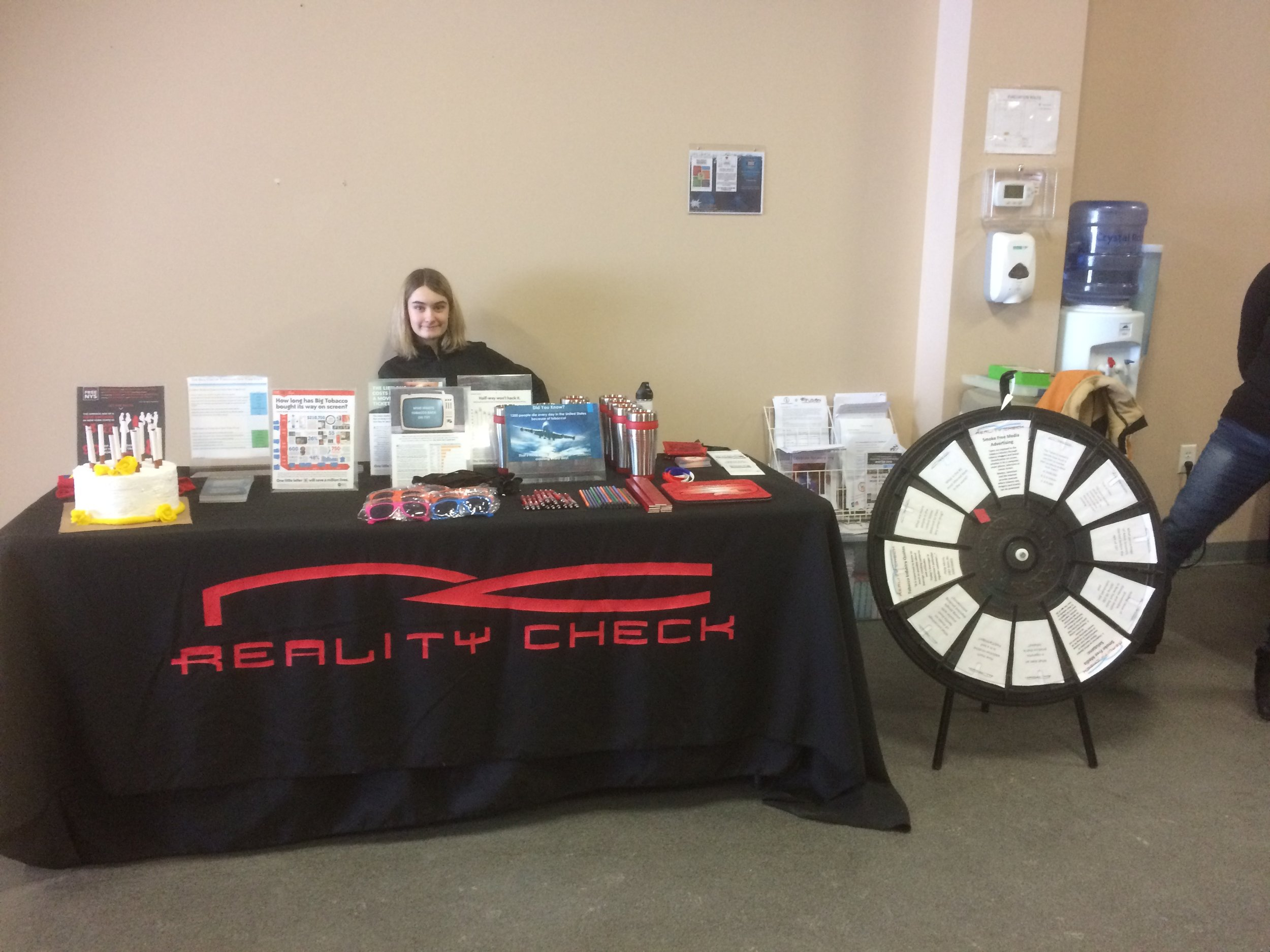 Ava Valetutto at Reality Check Table at Cobleskill Movie Event 2019.jpg