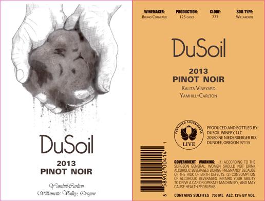 Kalita Vineyard DuSoil Pinot Noir