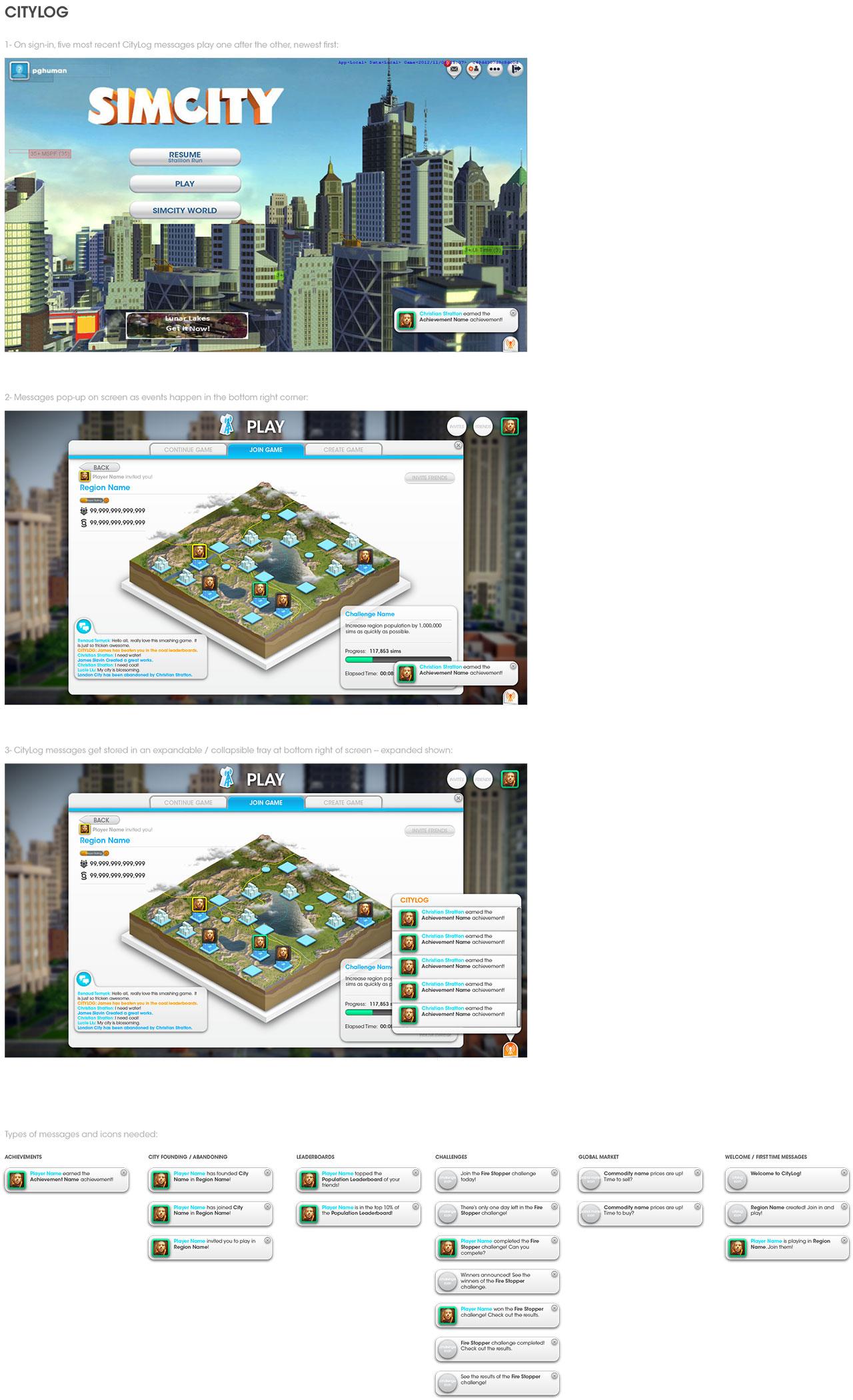 UX - CityLog States & Storyboard