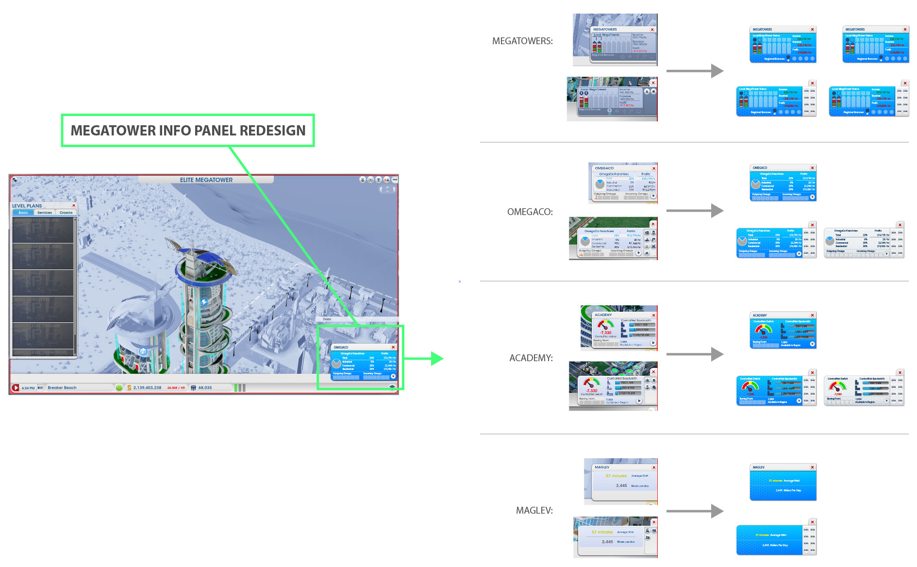 UX - Building Information Panel Mock-Ups