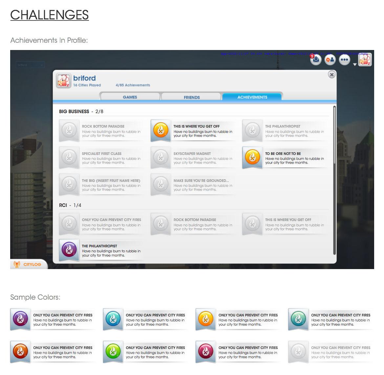 UX - Achievements Wireframe