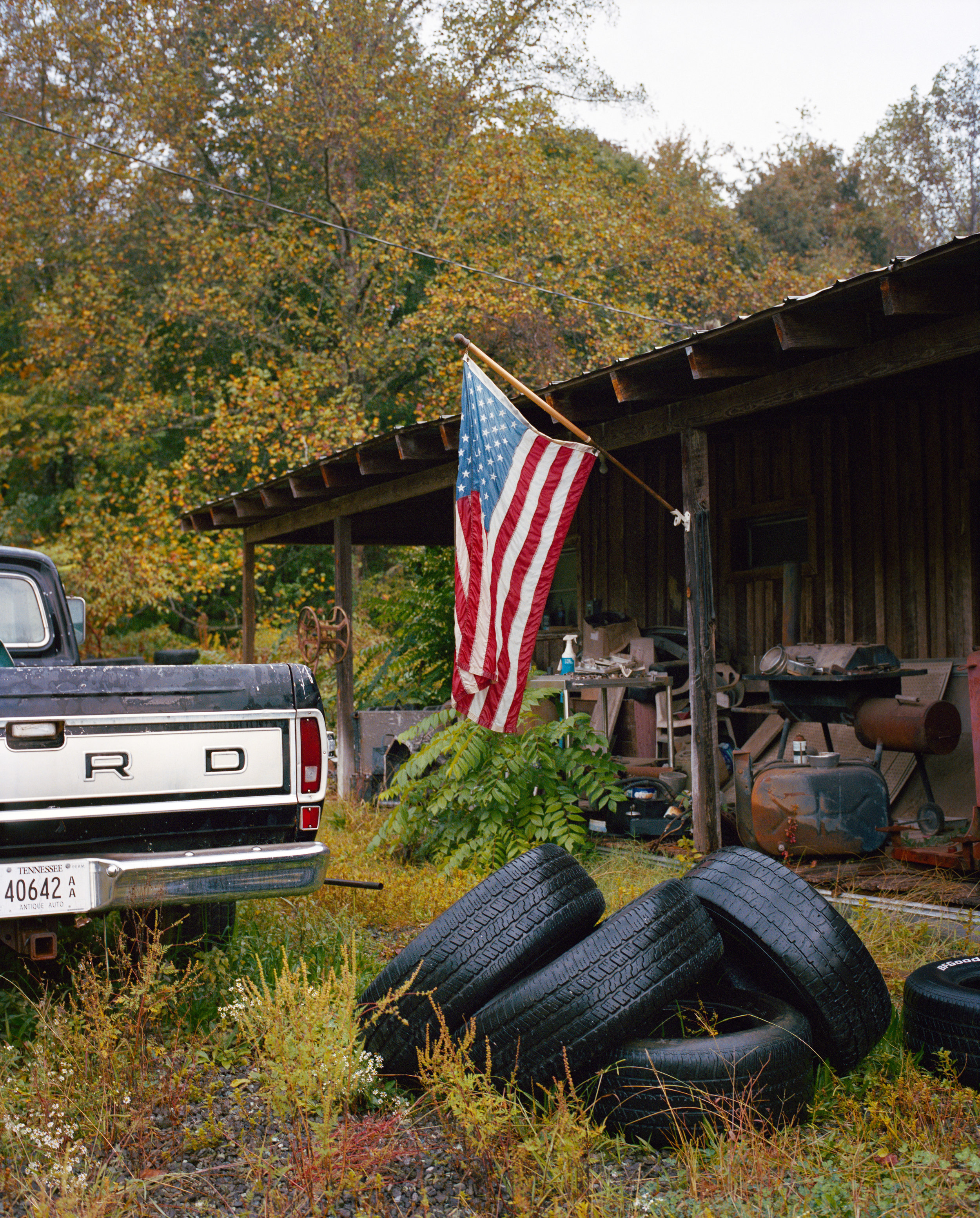 Classic car scrap yard, TN