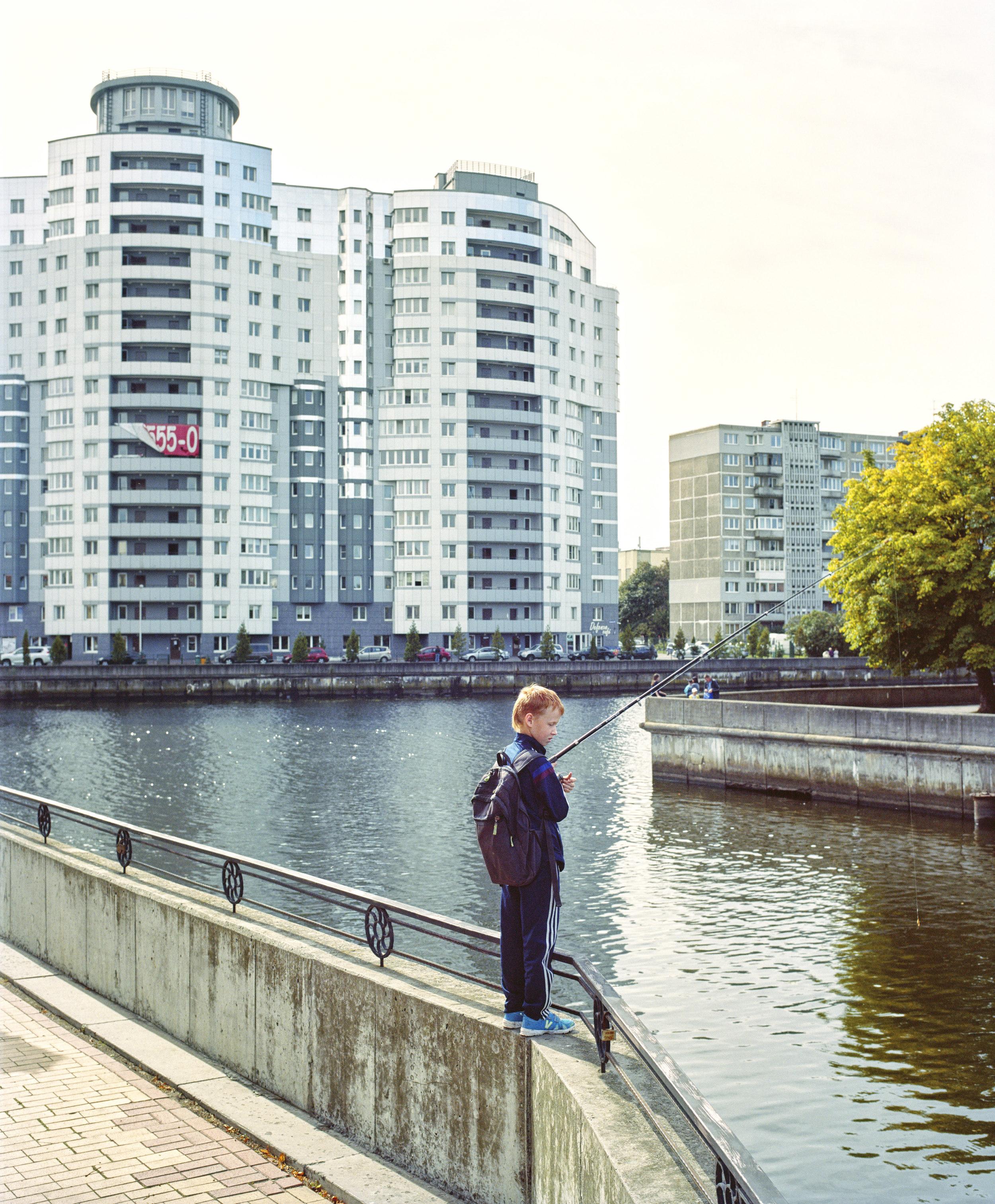 City fishing, Kaliningrad