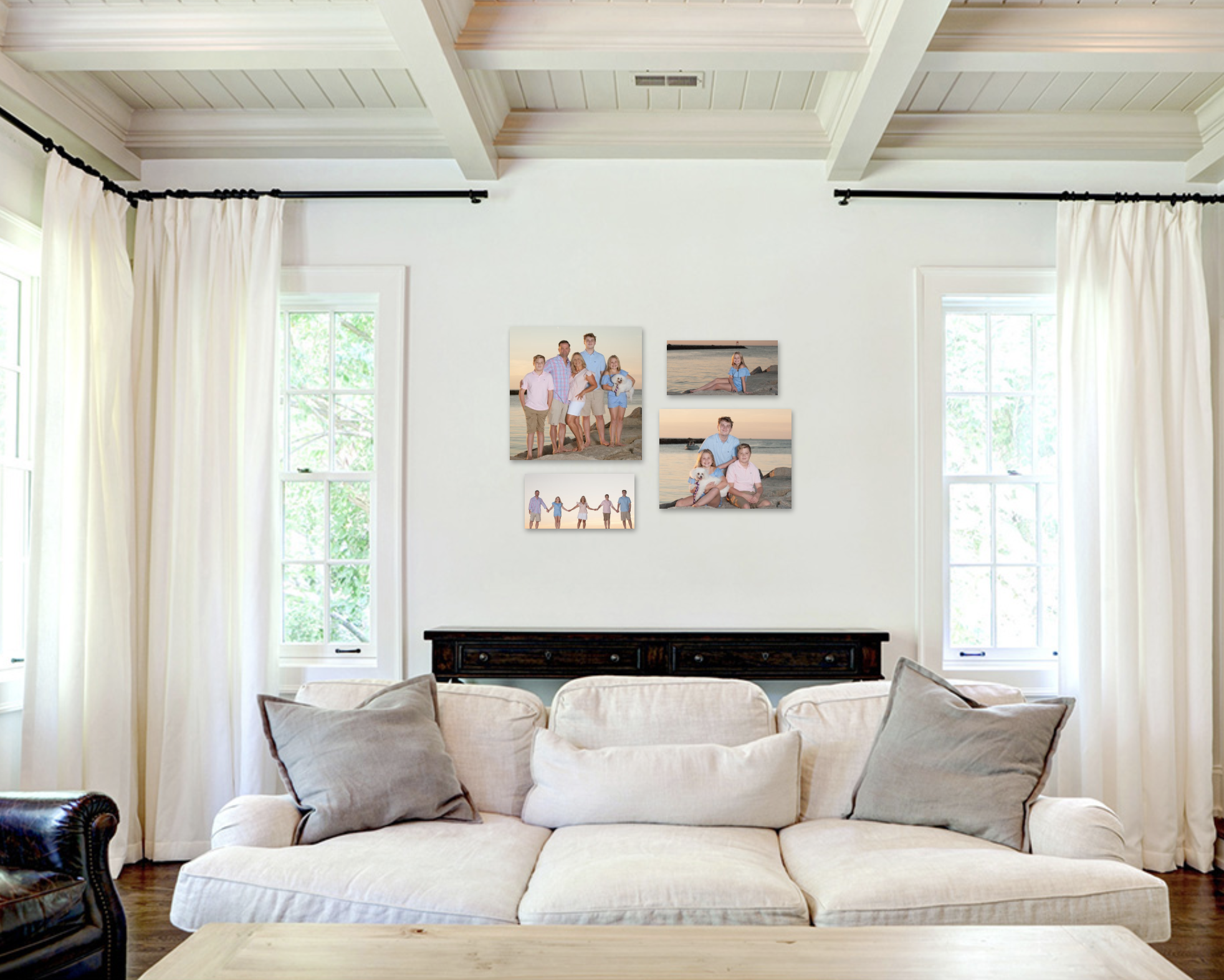 Give your walls a personality - To see more ideas on how to use your photos click here.