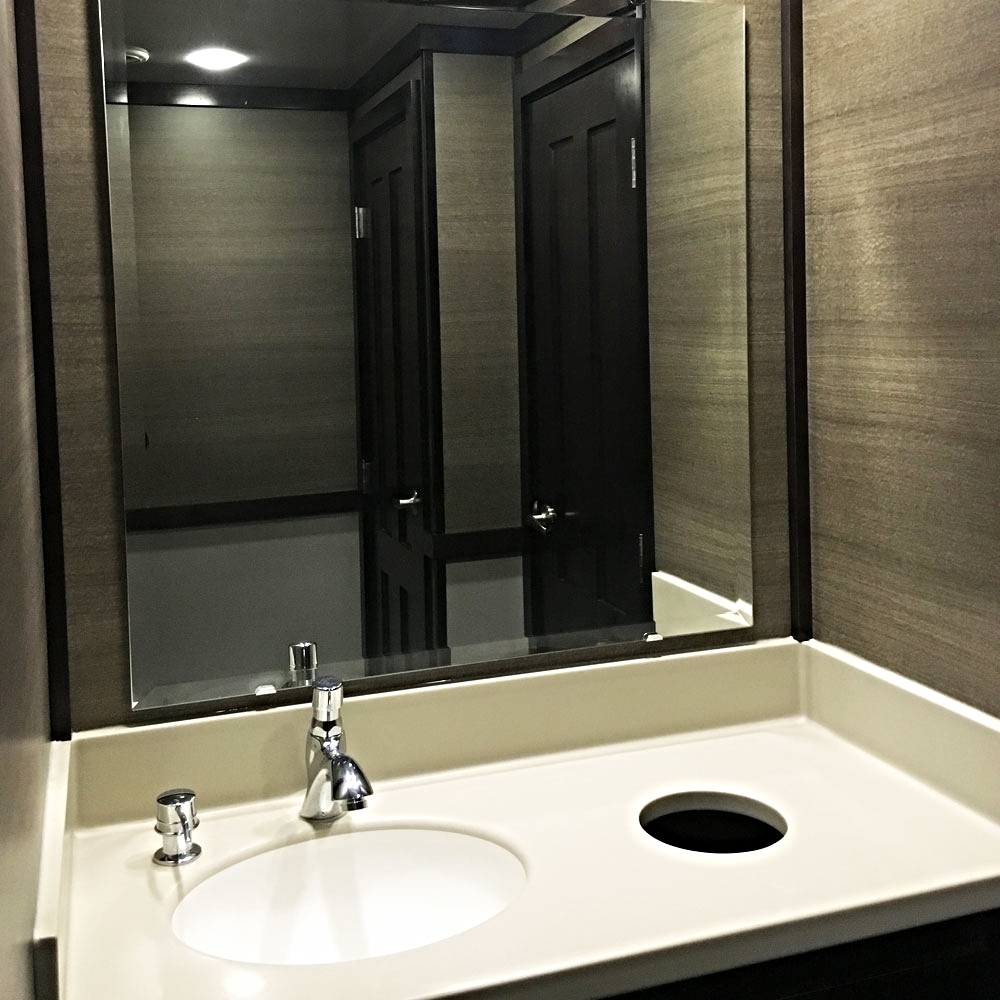Luxury Restroom Trailers - Vanity and Sink