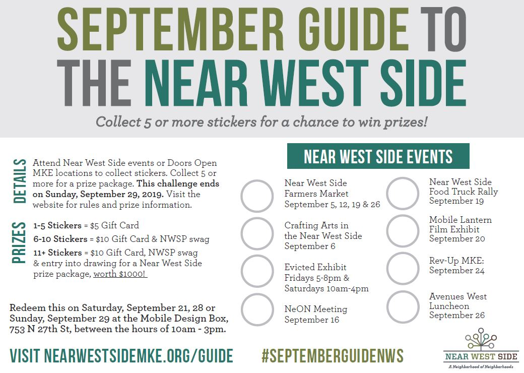 Click the picture above to print your Near West Side Guide!
