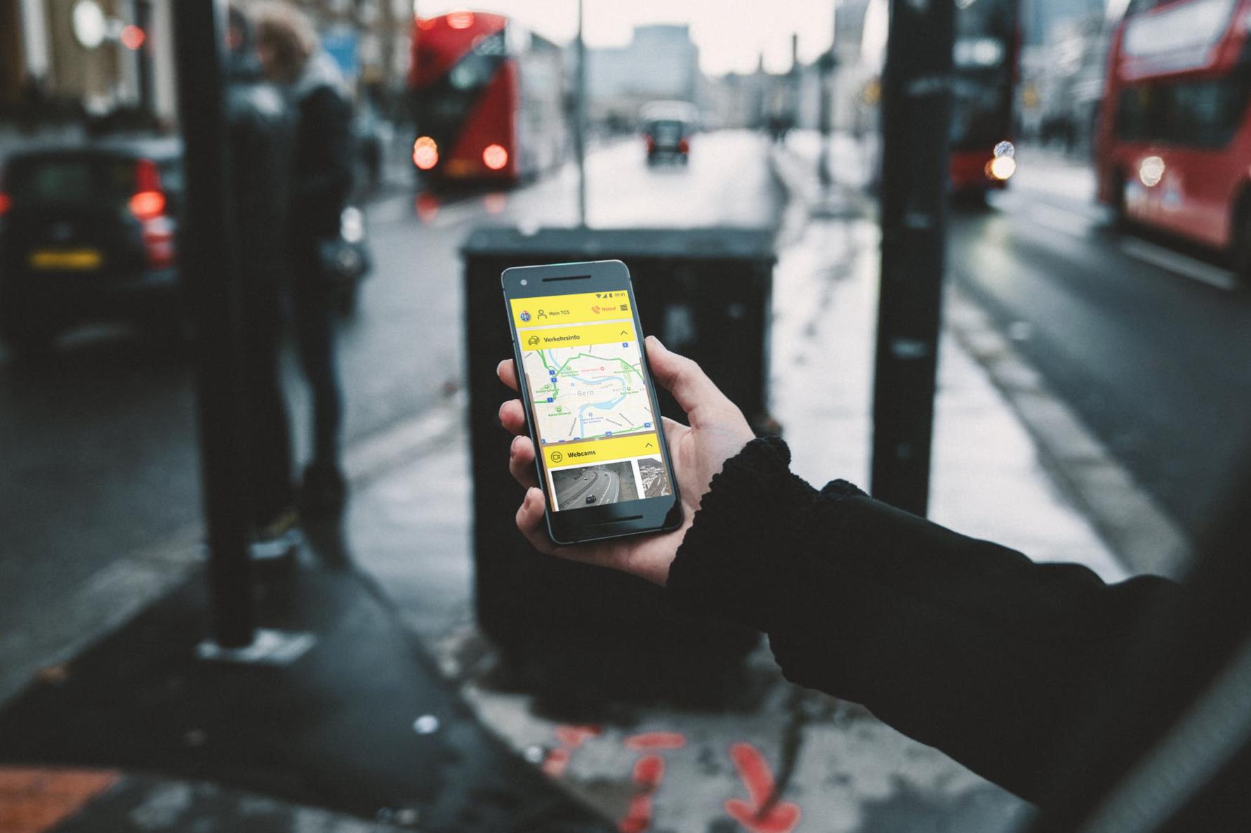 TCS App: alles Wichtige zur Verkehrssituation auf Schweizer Strassen
