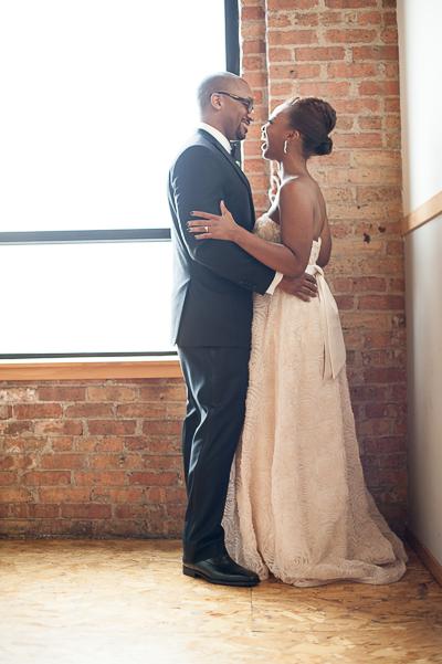 Chicago Urban Portrait Small Wedding Nomee Photography