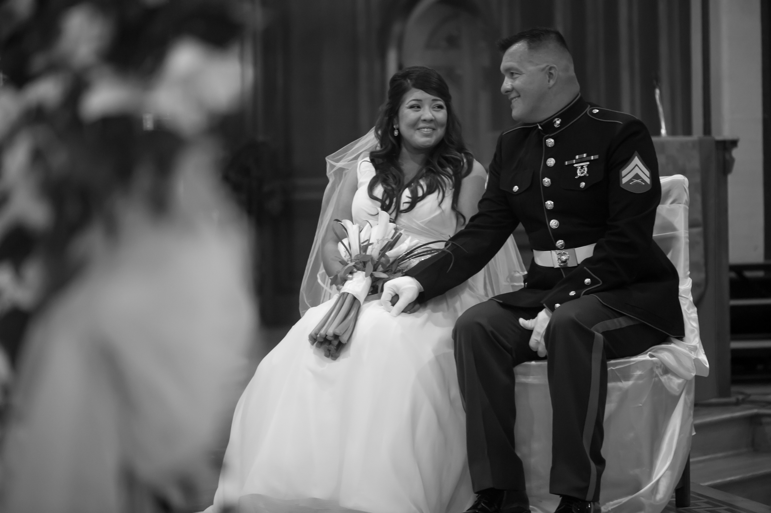 Church Small Wedding Portraits Chicago Photographer Nomee Photography
