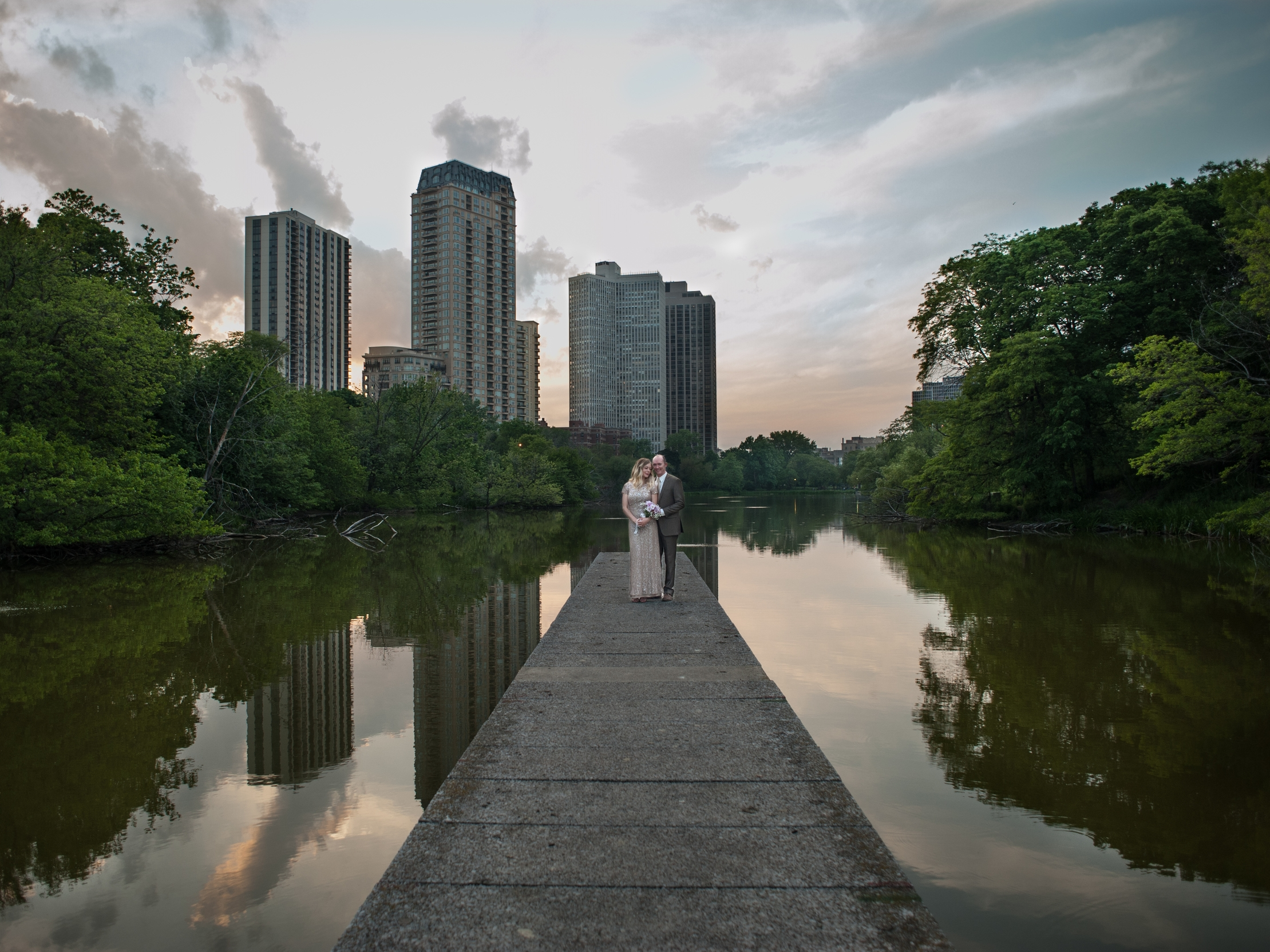 Lanscape Portrait Wedding Elopement Chicago Nomee Photography