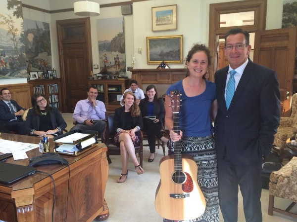 With Governor Malloy and his staff.