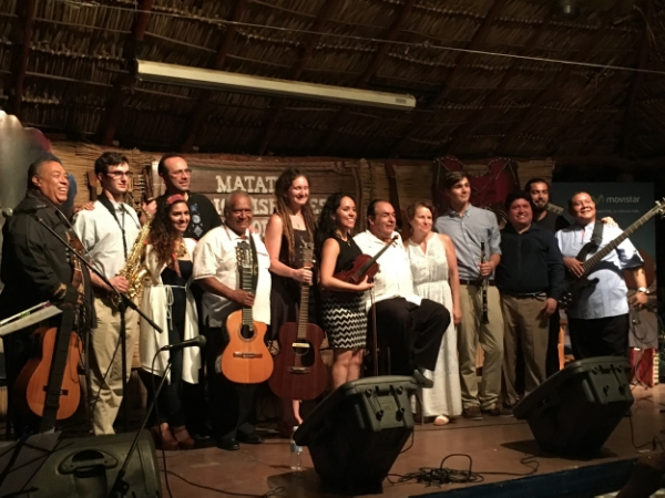 Our final concert on our final night at Casa de Mejia Godoy in Managua, Nicaragua.