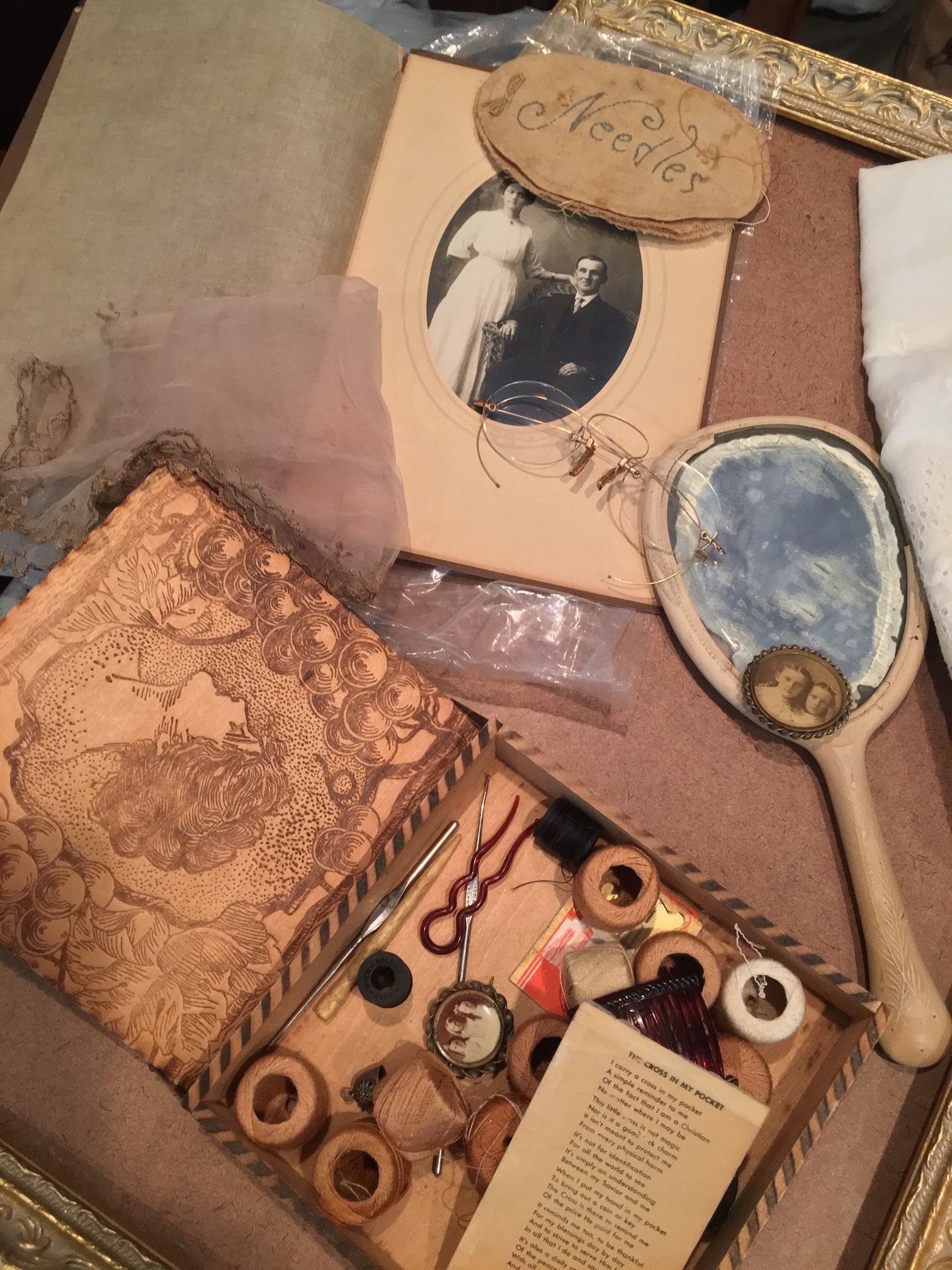 Some of Grace's treasures before collage