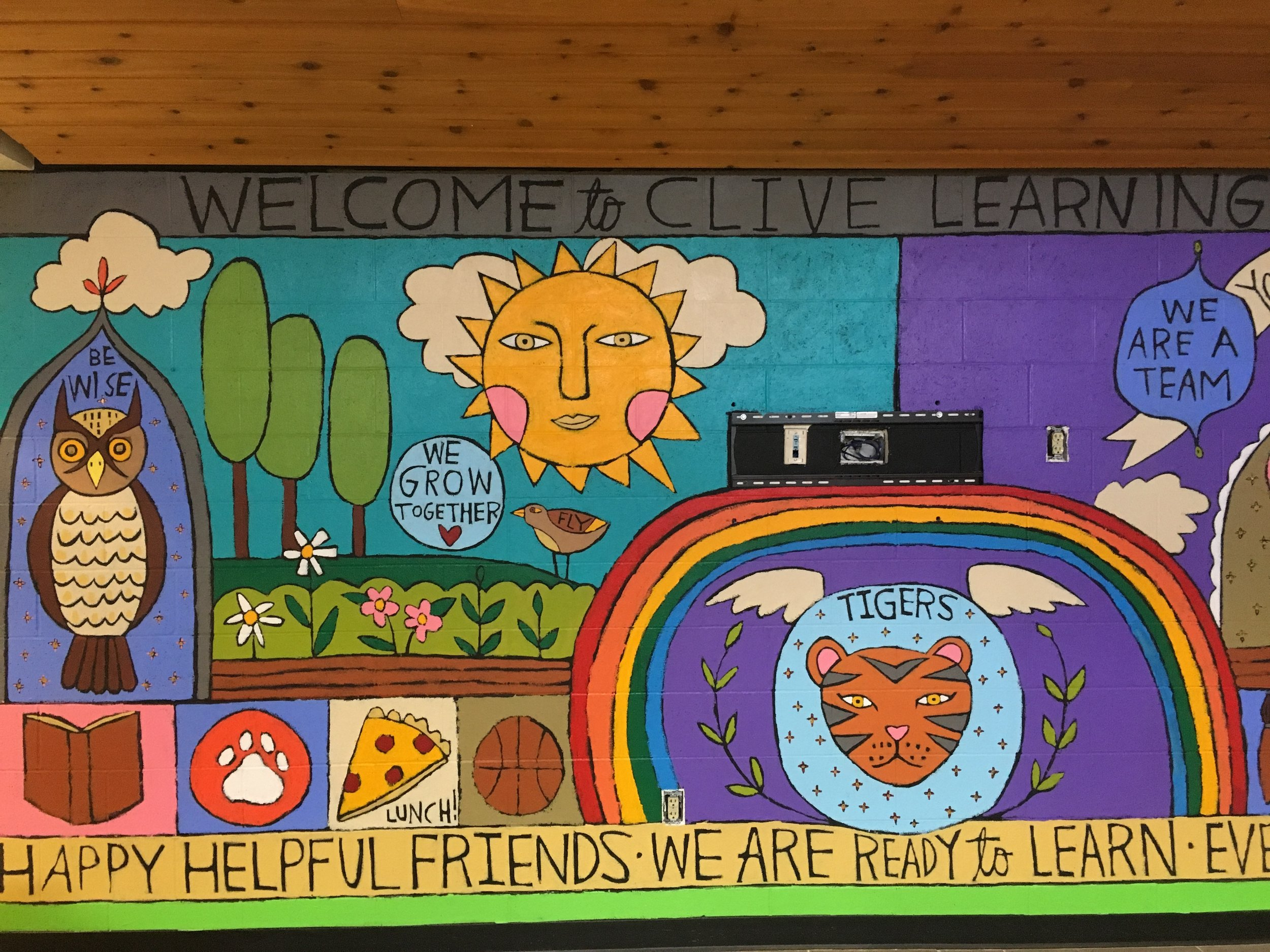 Clive Learning Academy Mural