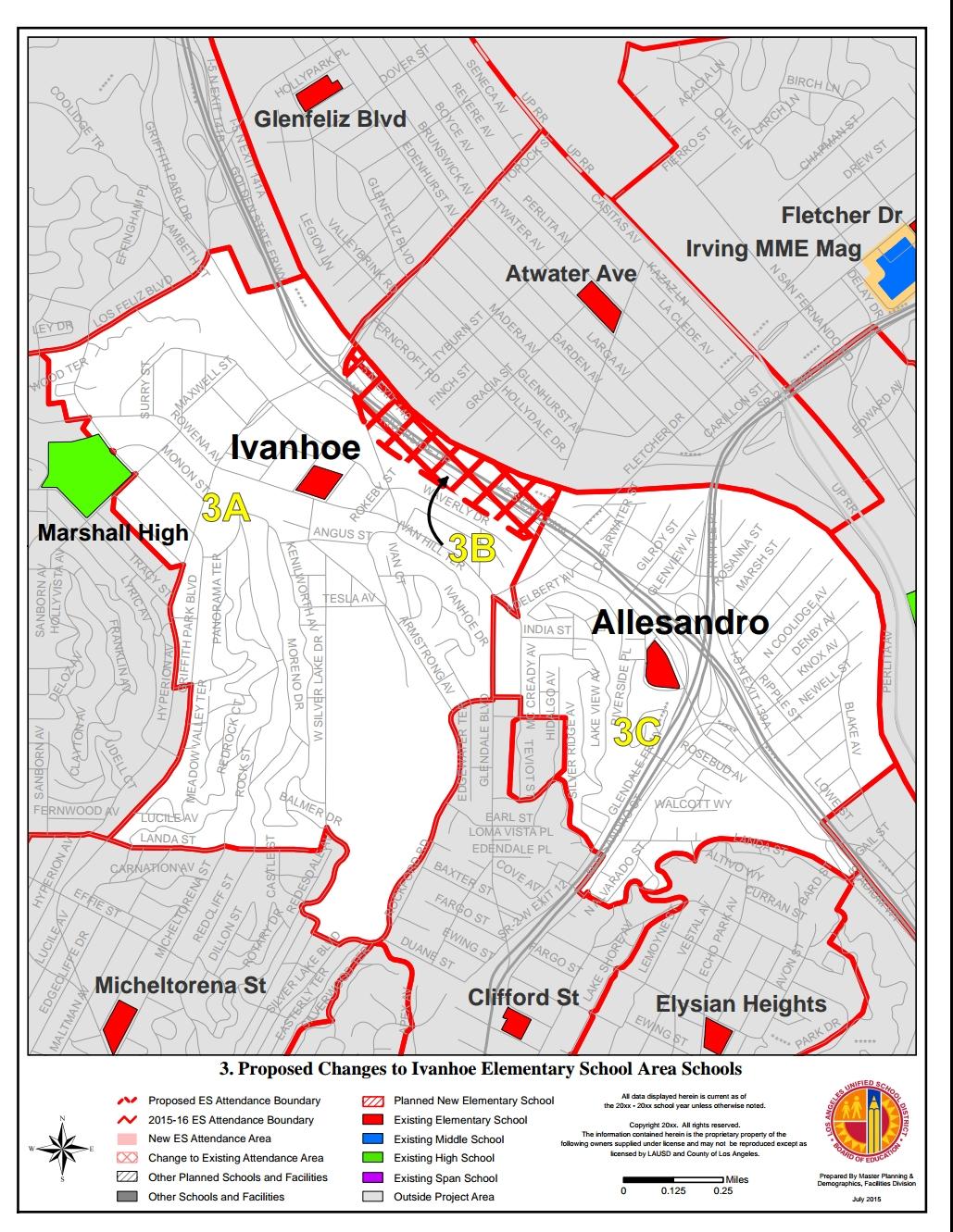 Ivanhoe and Allesandro Elementary Boundaries 2017