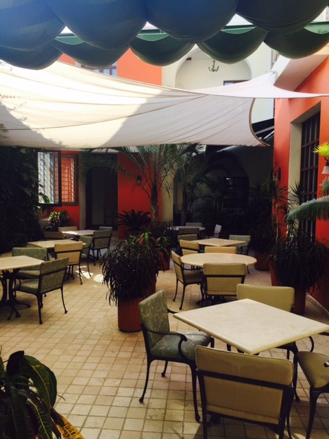 Downstairs dining at El Jardin.