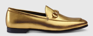 Gucci Jordaan metallic loafer
