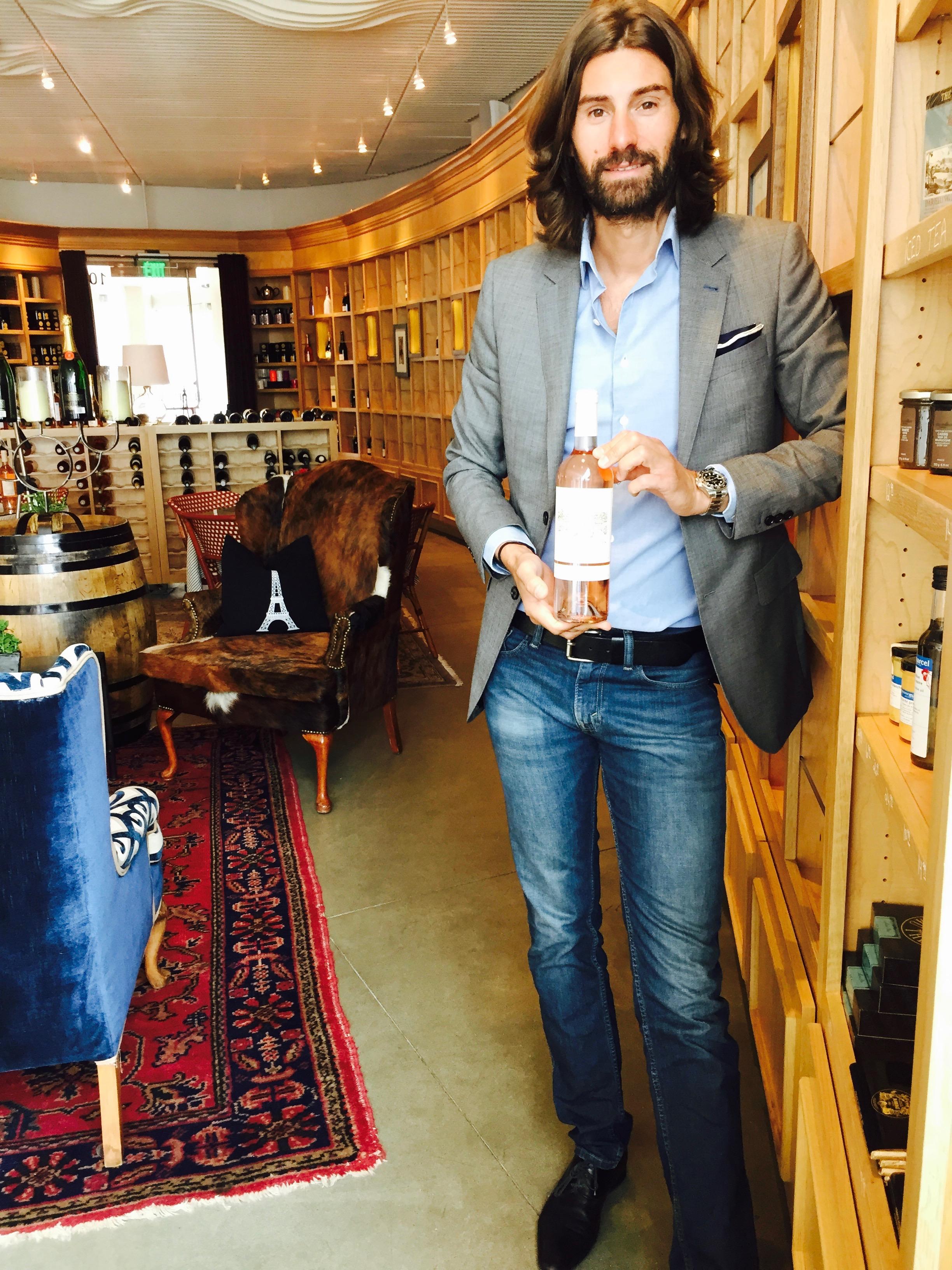 Jordane is holding his favorite Rosé -  Château Vannieres  2015