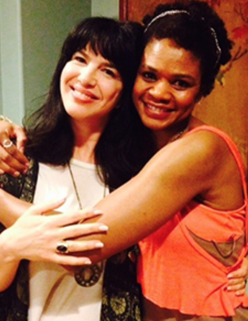 Sterling with actress  Kimberly Elise