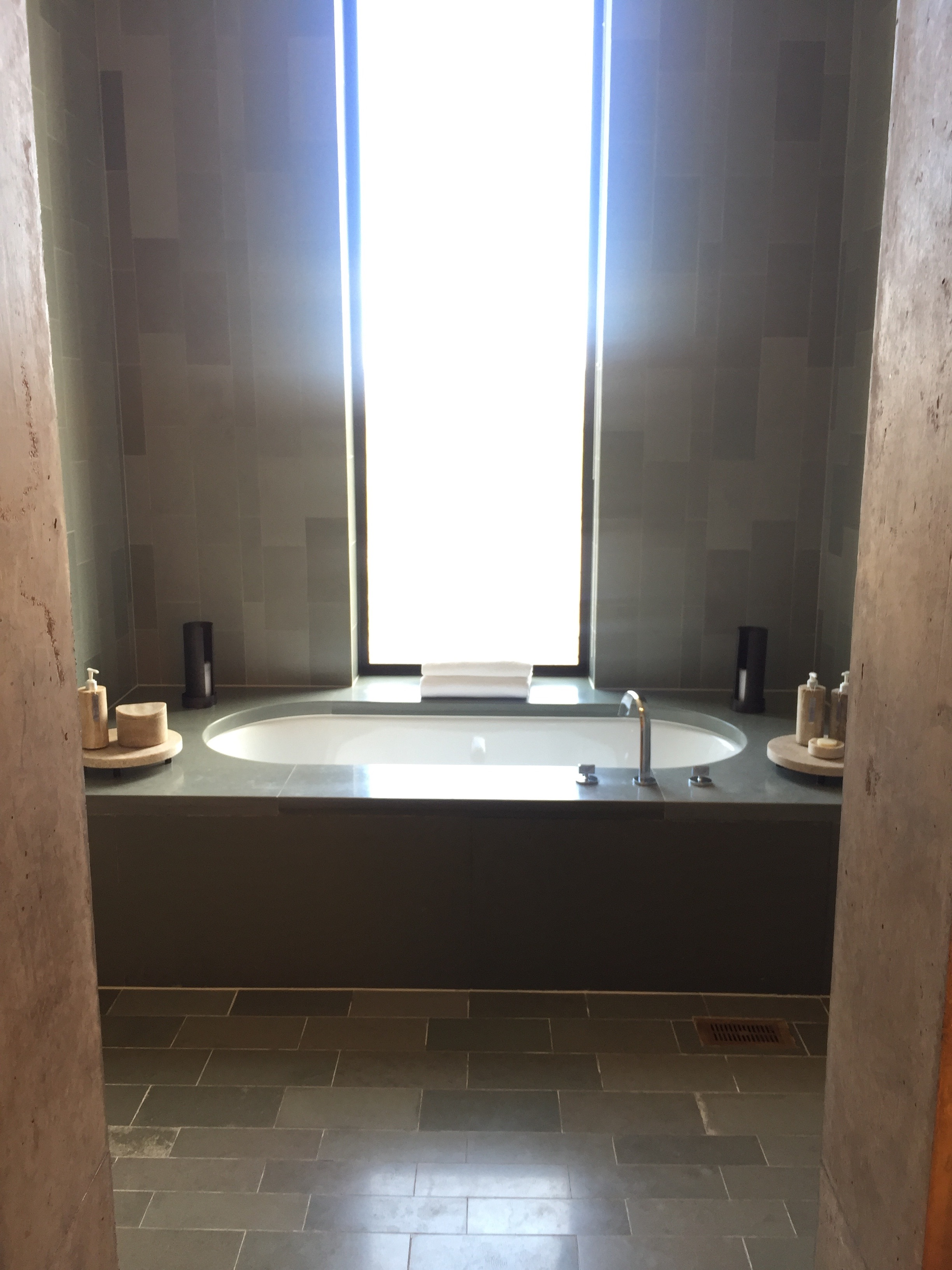 Beautiful view while relaxing in a bath