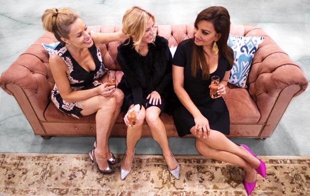 Michelle: Alice & Olivia Dress, Louboutin Shoes, / Janet: Kooples Dress, Joie Vest / Shalini: Alexander Wang Dress, Sarah Jessica Parker Shoes