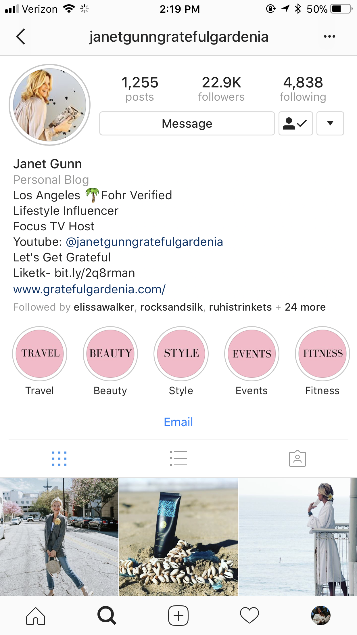 - 1. Follow me on Instagram @janetgunngratefulgardenia