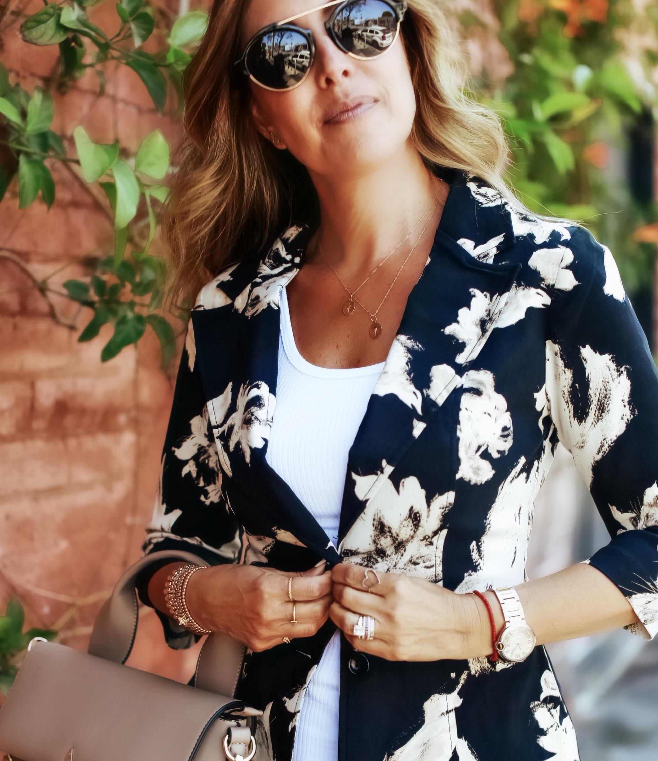 Melissa Meyers wearing  The Grateful Blazer