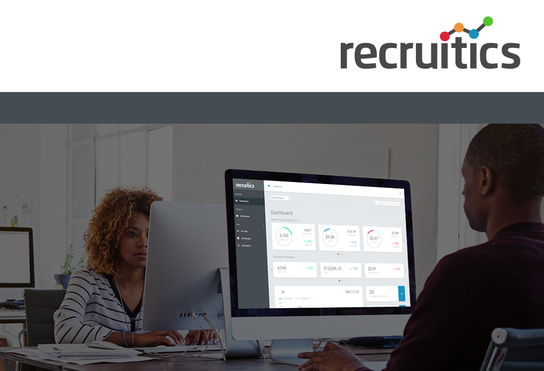Featured Case Study:Recruitics - Redesigning a recruitment marketing B2B SaaS platform for better reporting. User Research, Prototyping, Interaction Design