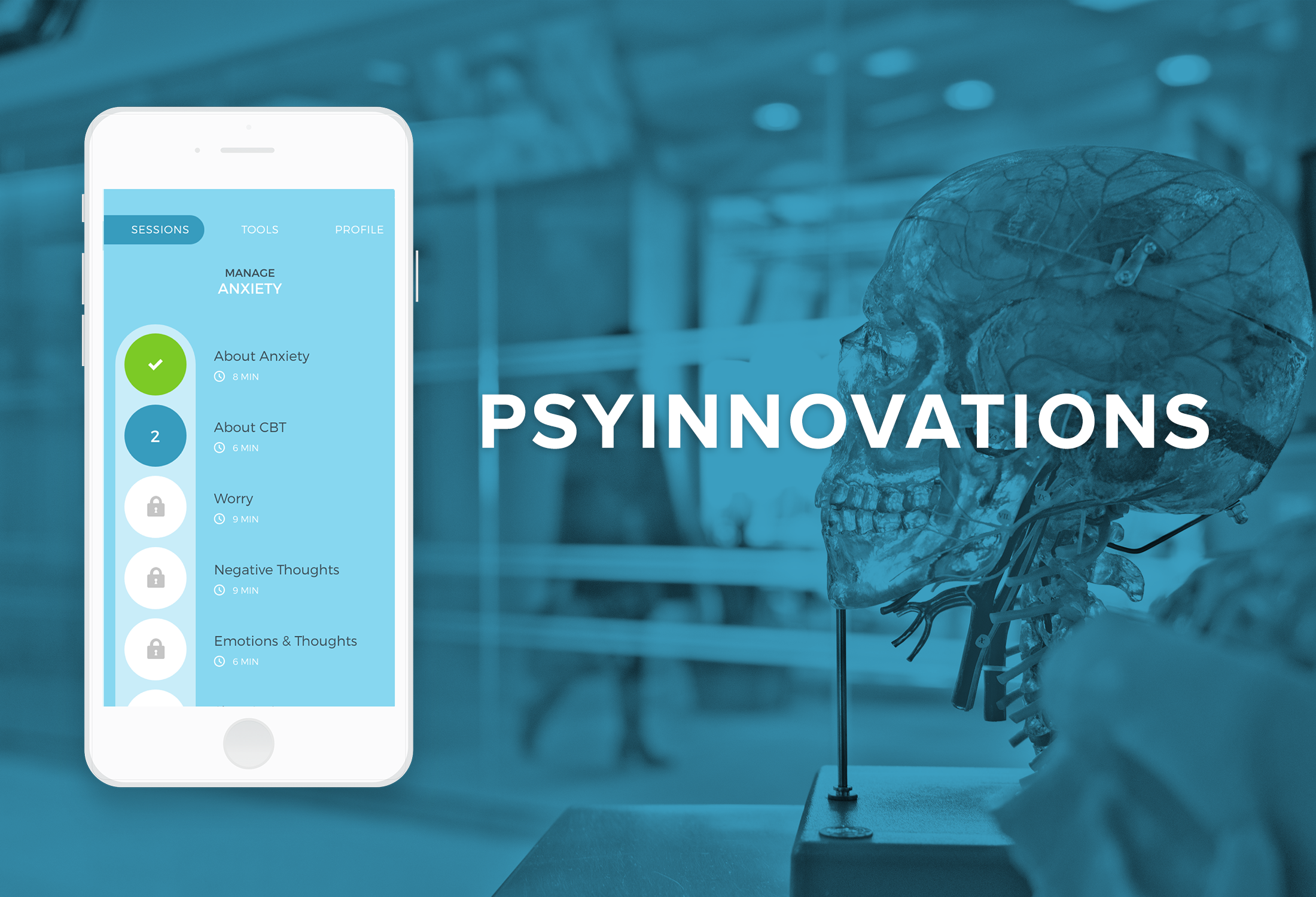 PsyInnovations   The UX of treating anxiety on-the-go  User Research, Information Architecture, Interaction design