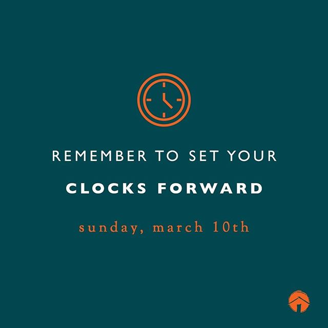 Don't forget to spring forward! ⏰