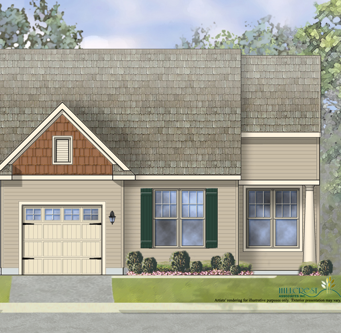 The Chatsworth Traditional End Unit Home with low maintenance vinyl siding