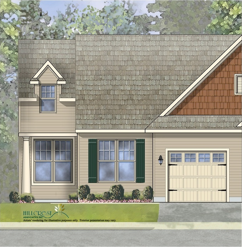 The Aster Traditional End  Unit Home with low maintenance vinyl siding