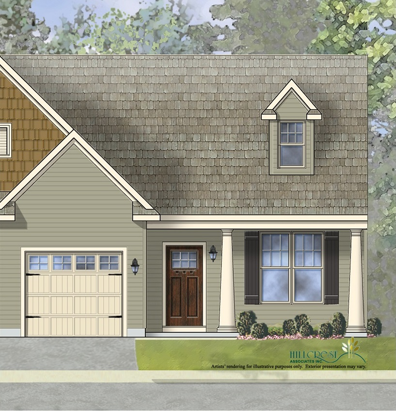 The Amelia Traditional End Unit Home with low maintenance vinyl siding