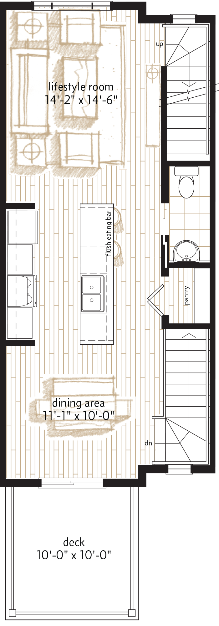 MAIN LEVEL  |  566 SQ. FT.