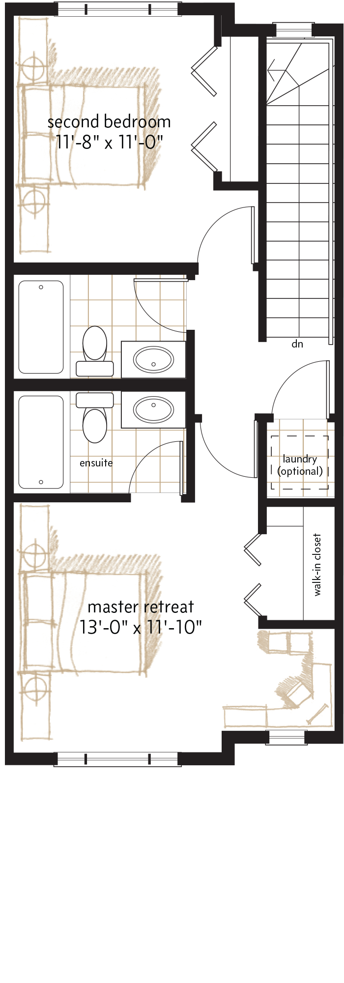 UPPER LEVEL  |  566 SQ. FT.