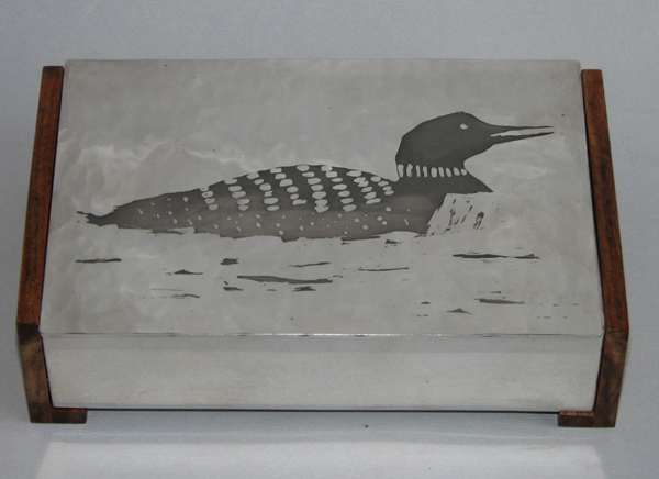 Box with Etched Loon