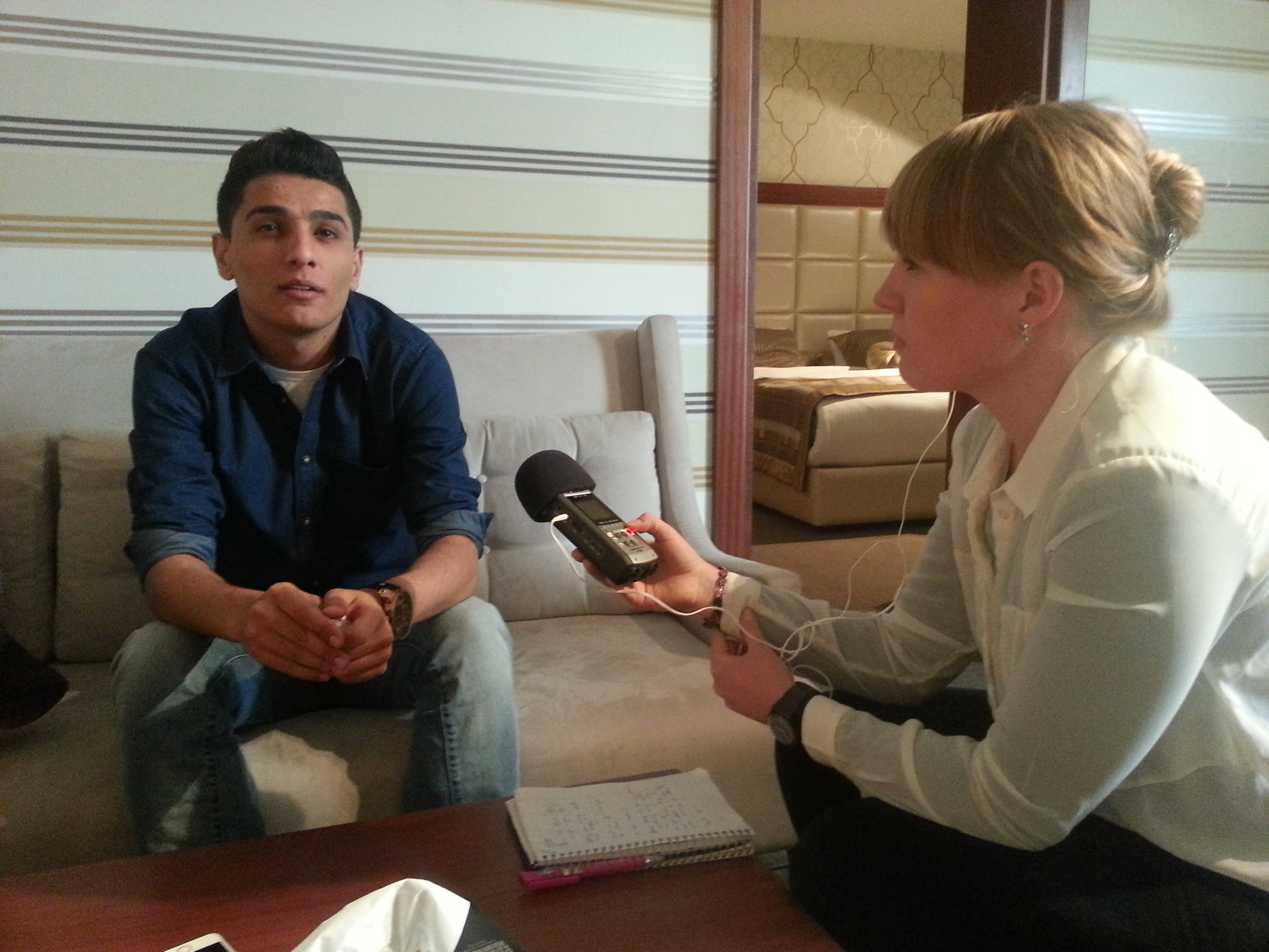20140317 - Lena interviewing M Assaf - 1.jpg