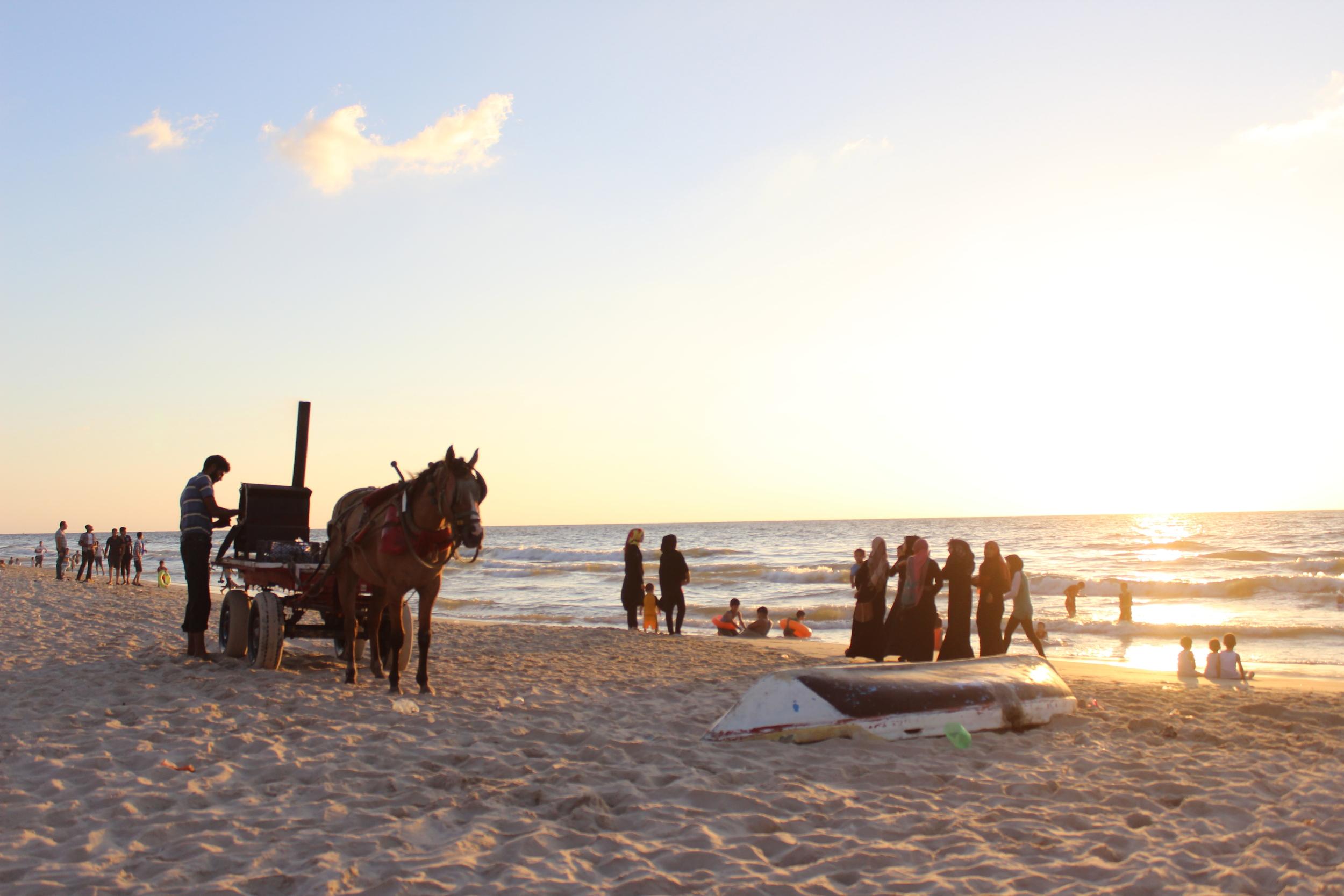 Gaza Beach sunset - full size