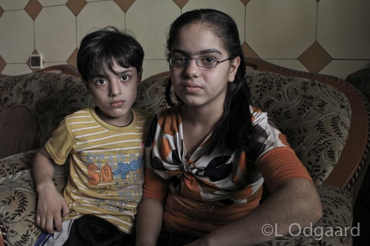 Siblings permanently injured after Israeli air strike on their home