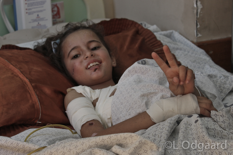Palestinian girl in hospital after being seriously injured in Israeli air strike