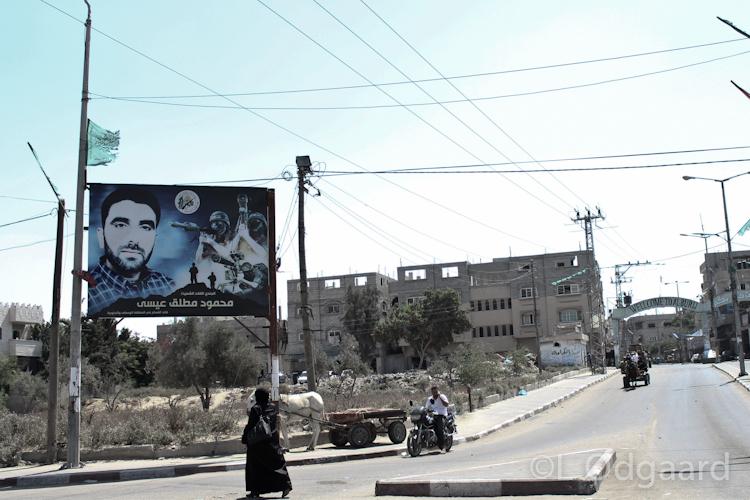 Sign glorifying Hamas in Gaza