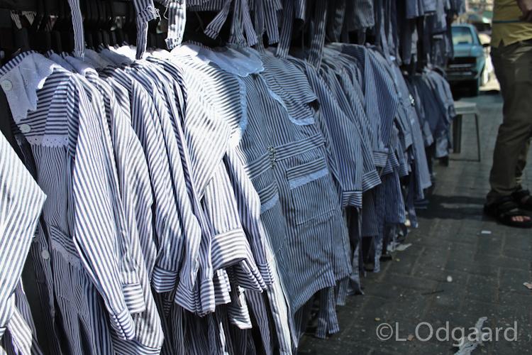 School uniforms in Deir El Balah Gaza