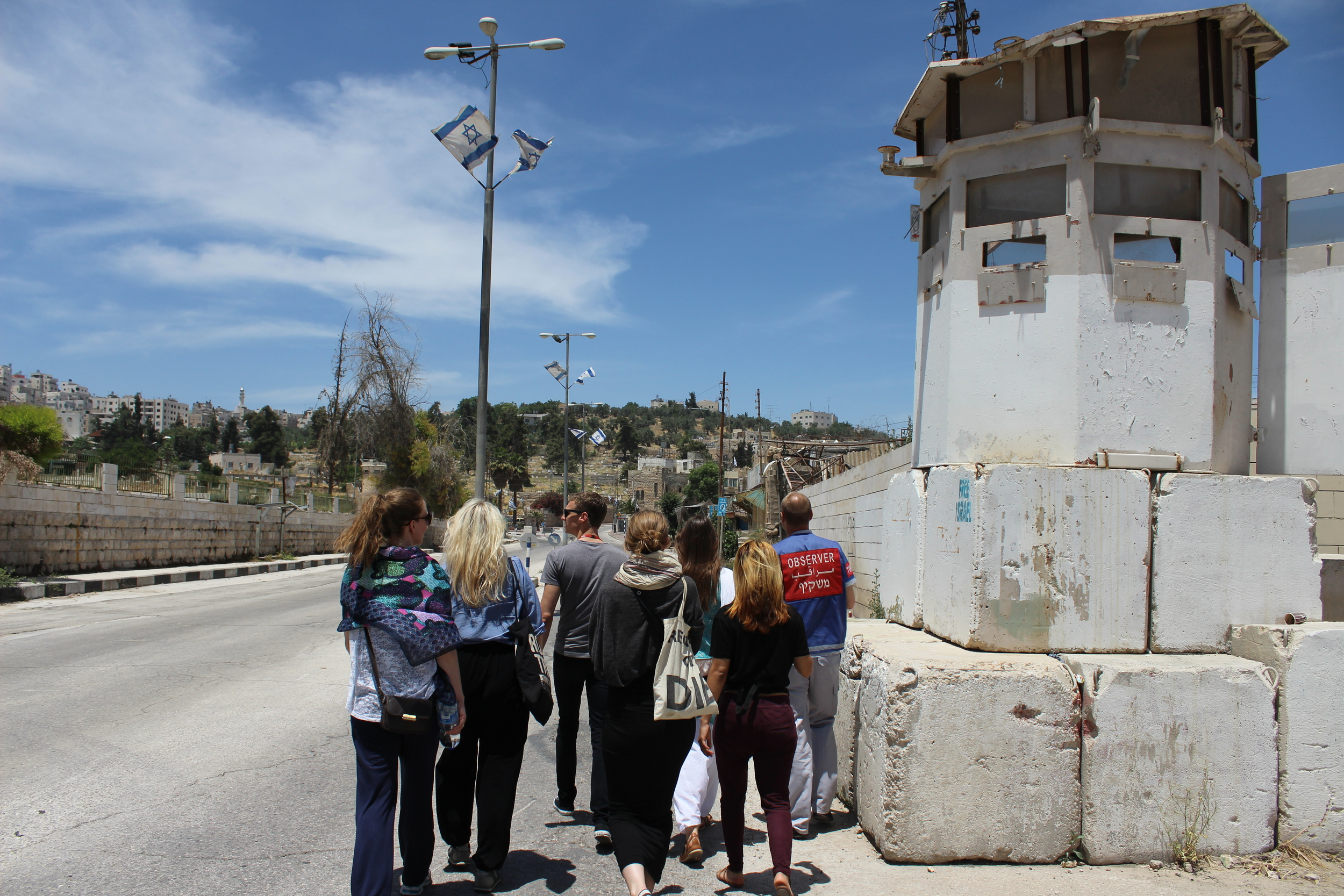 Visit to H2 in Hebron with briefing by TIPH