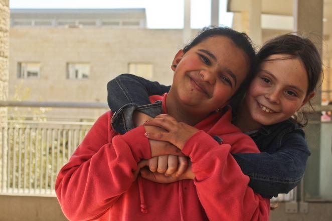 Quds and Revka 4th graders at Jerusalem HiH school.jpg