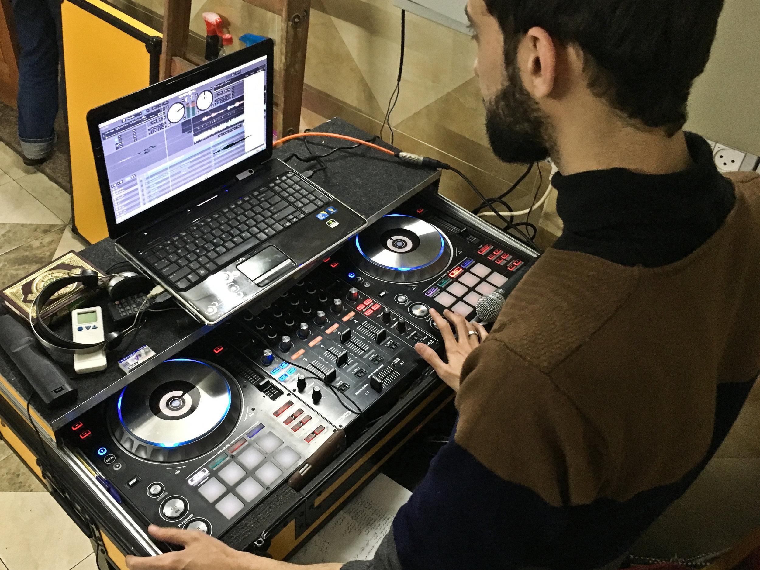 Khaled Abu Abdo DJ'ing at Love Boat.jpg