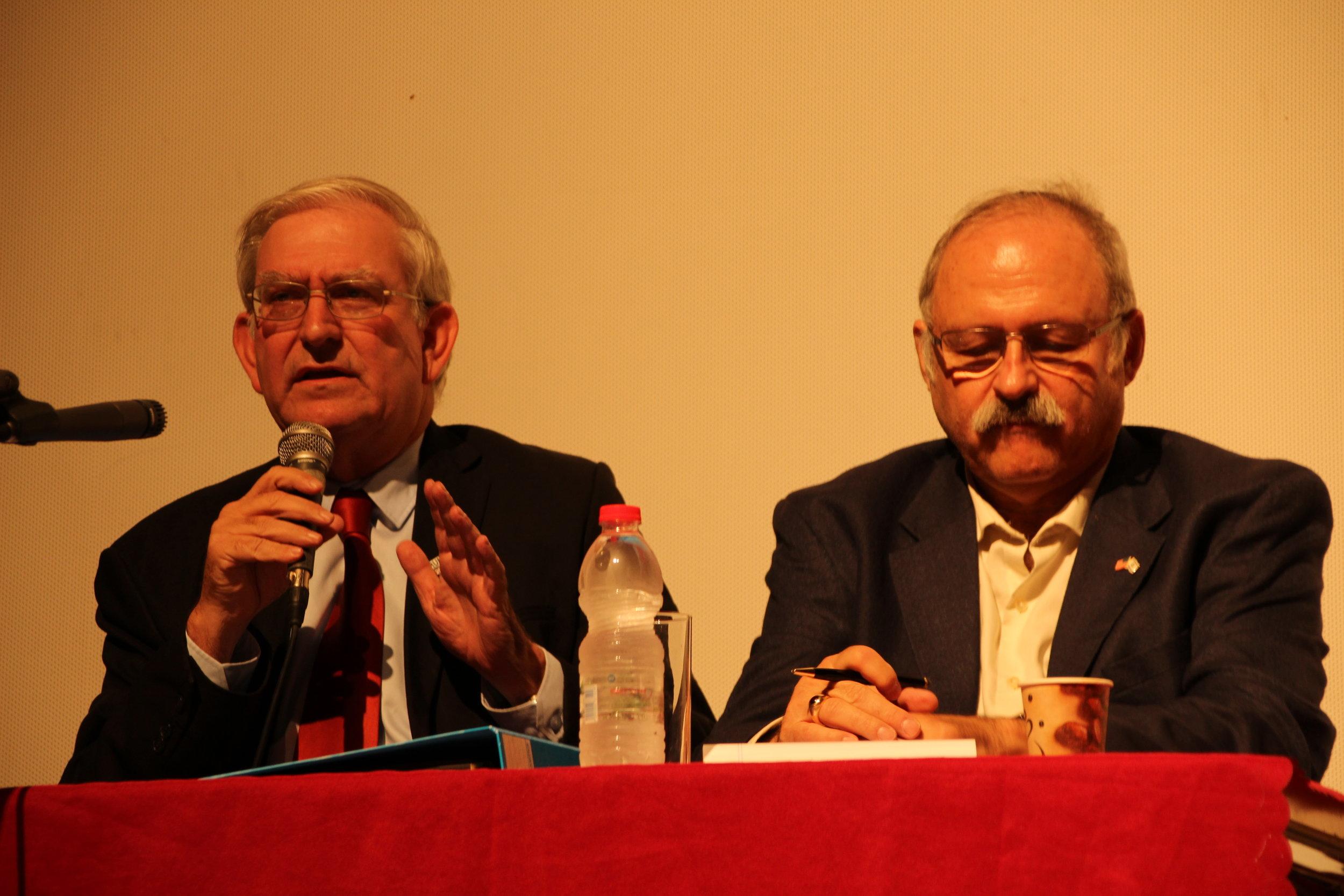 20161005 - Mark Zell (GOP) & Sheldon Schorer (Dem) debate.JPG