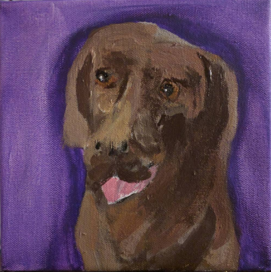 "Titus - acrylic on canvas  8"" x 8"""