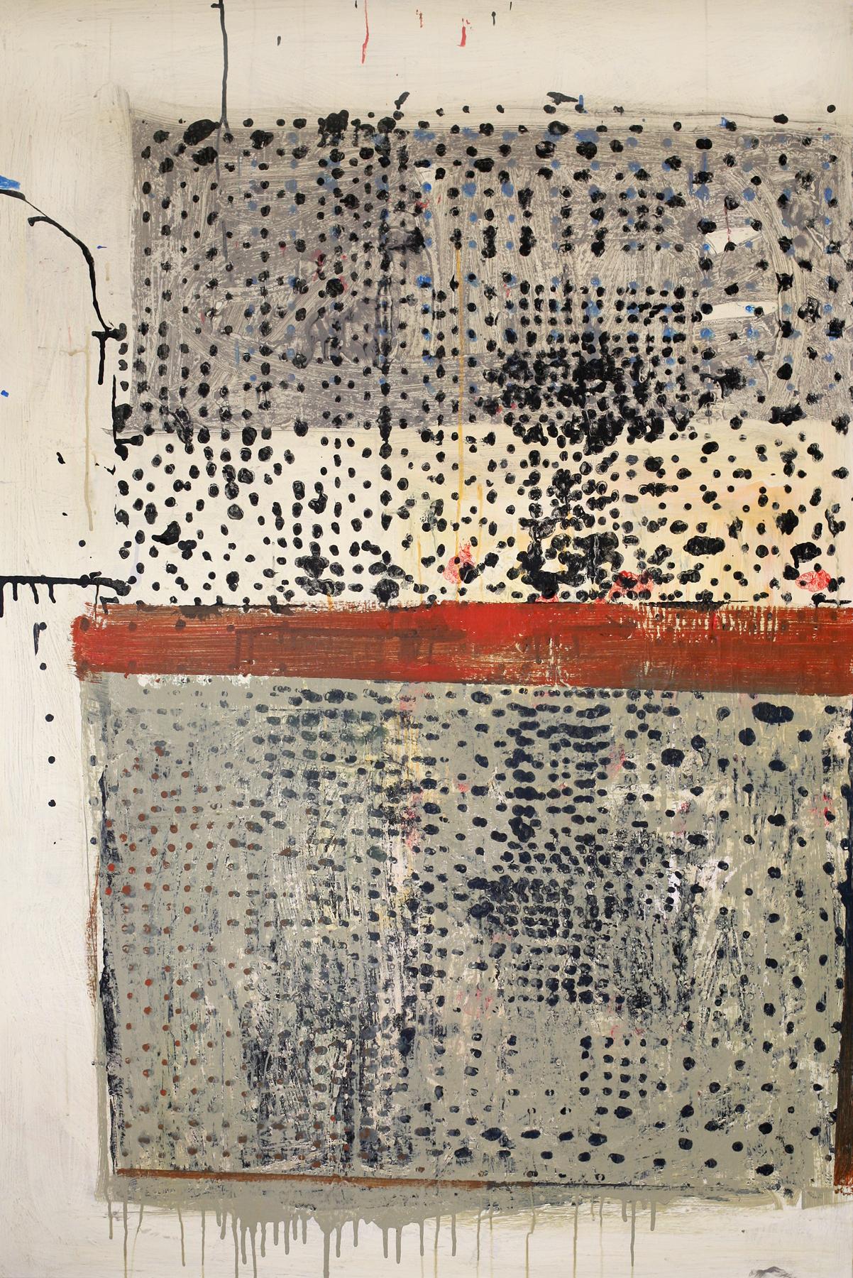 """Djenné, acrylic on canvas, 62"""" x 42"""", 2014"""