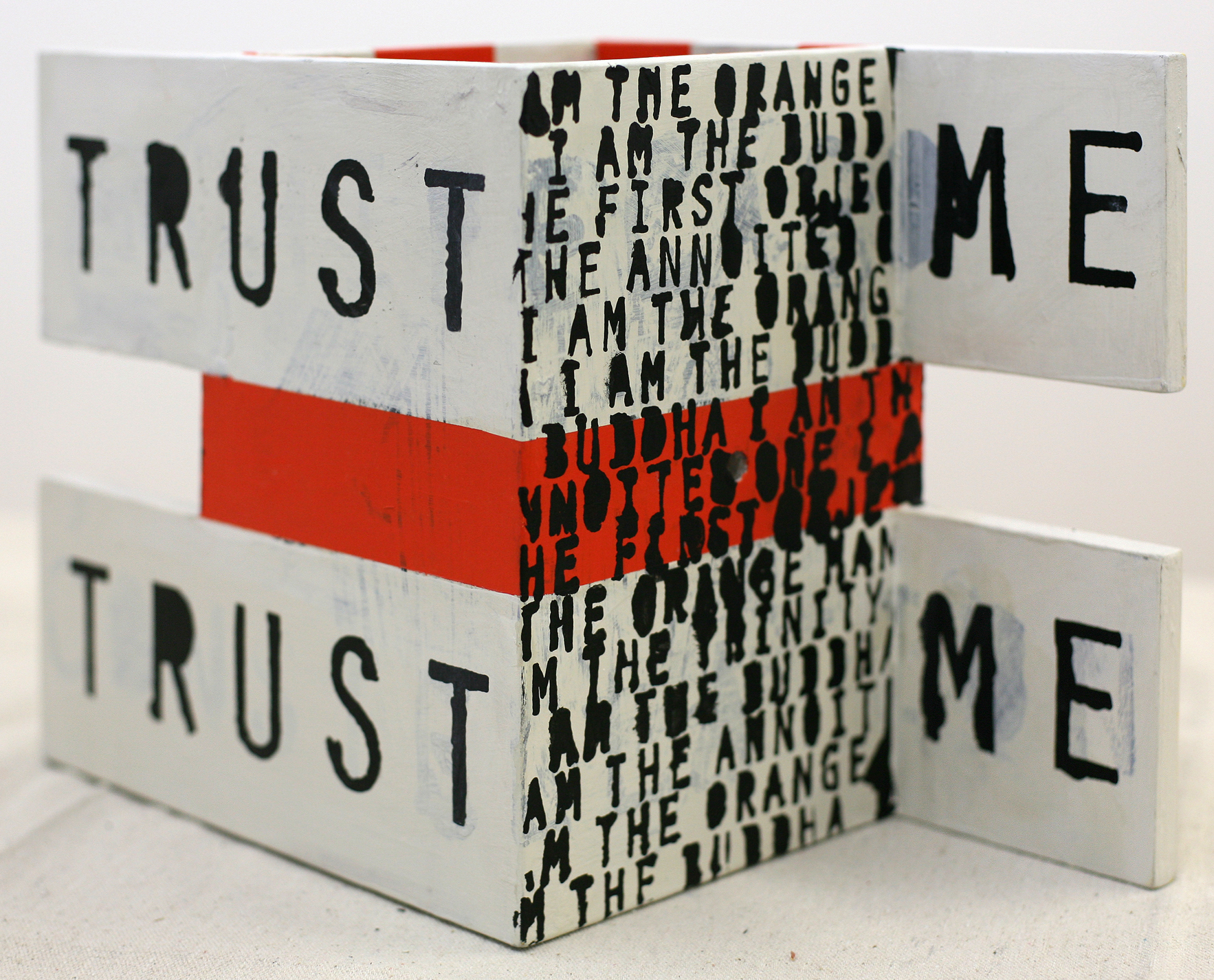 Trust Me, polychrome wood, 2012 (private collection)