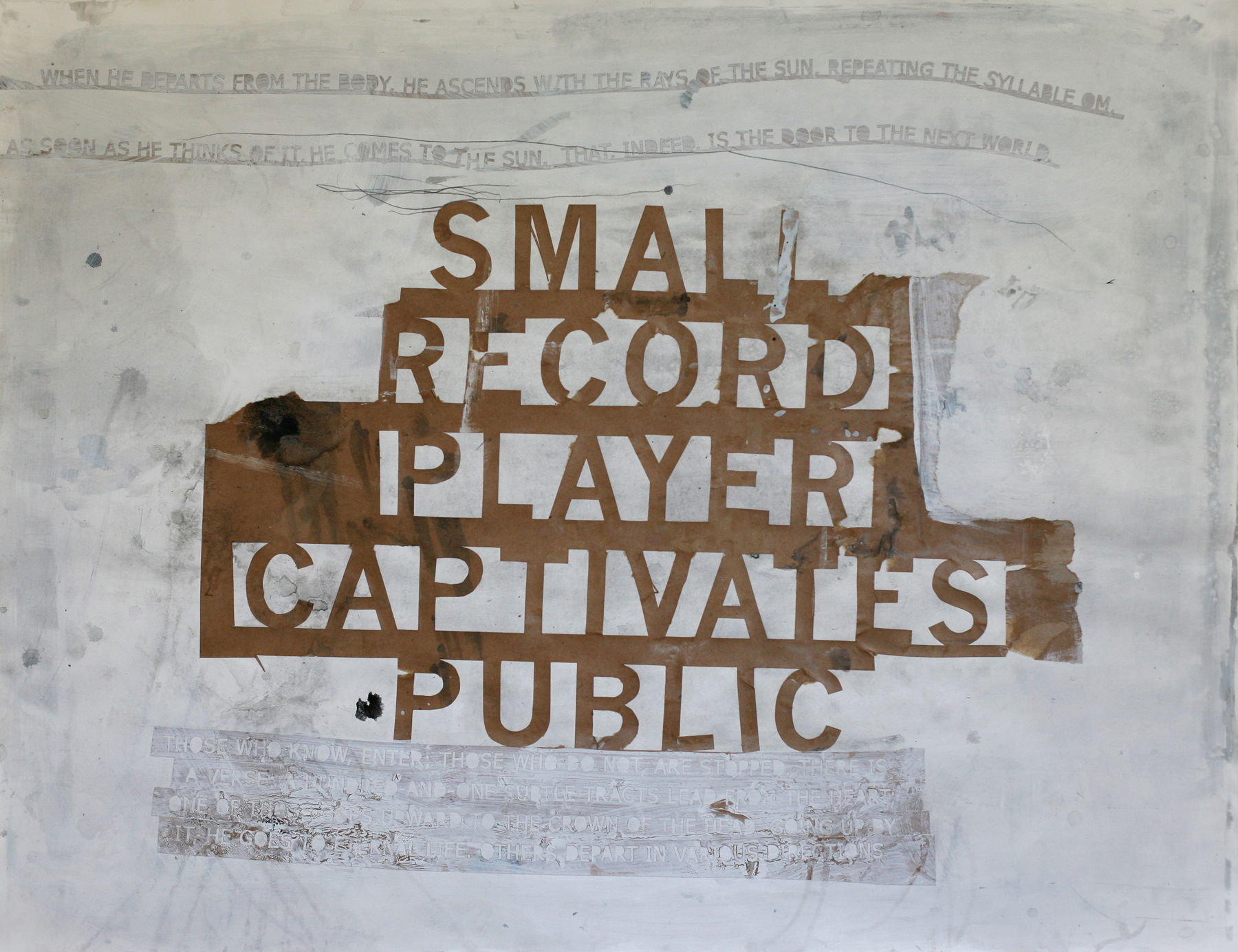 Small Record Player 01, acrylic and paste on paper